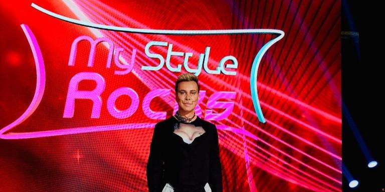 My Style Rocks: Με γυναικείο μπούστο και κορμάκι ο Γαβαλάς -Το ανδρόγυνο look