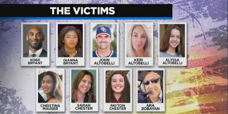 Κόμπι Μπράιαντ: Αυτά είναι τα 9 θύματα της συντριβής -Τα τρία είναι παιδιά [εικόνα]
