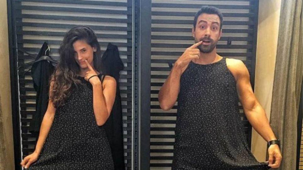 Σάκης Τανιμανίδης: Φοράει το κολάν και το μπουστάκι της Χριστίνας Μπόμπα και λικνίζεται αισθησιακά