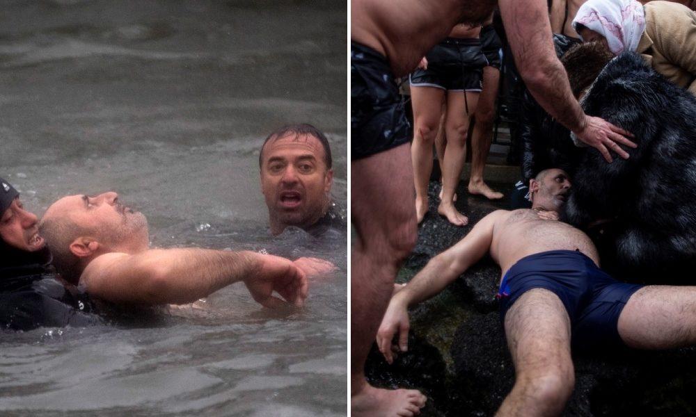 Κωνσταντινούπολη: Άντρας βούτηξε για τον σταυρό και τον έβγαλαν χωρίς τις αισθήσεις του