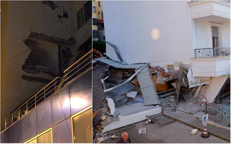 Εικόνες καταστροφής στην Αλβανία από τον σεισμό