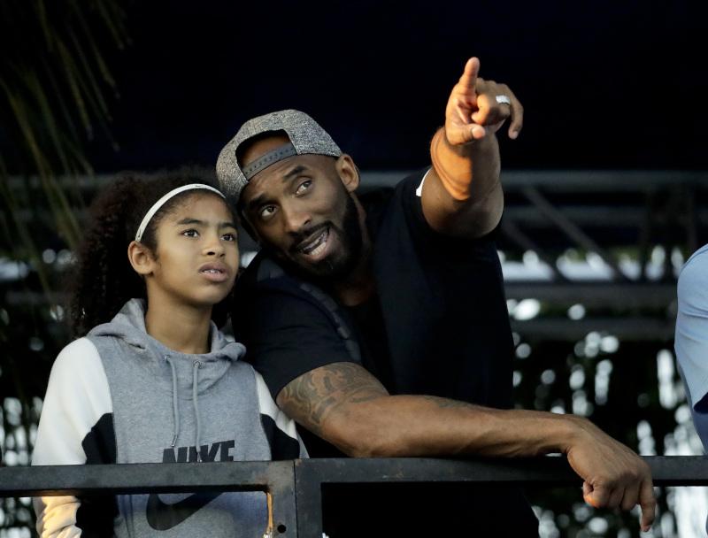 Ο Κόμπι Μπράιαντ με την 13χρονη κόρη του