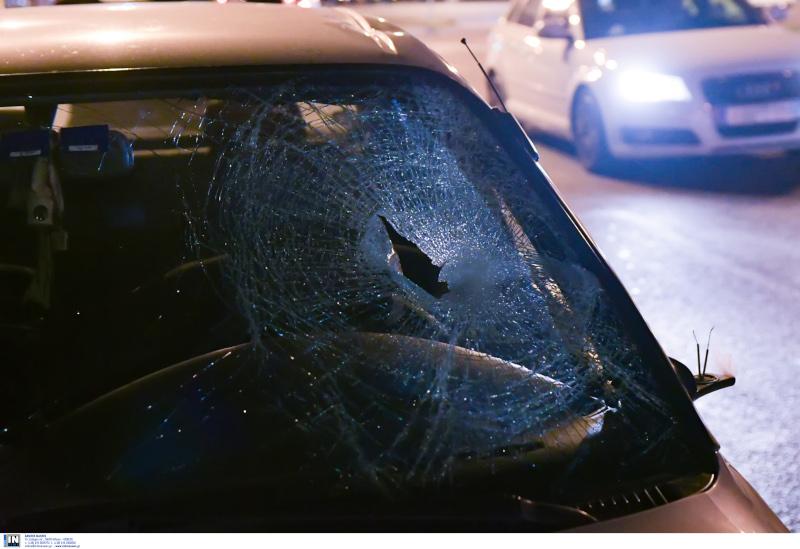Το ΙΧ που ενεπλάκη στο τροχαίο δυστύχημα