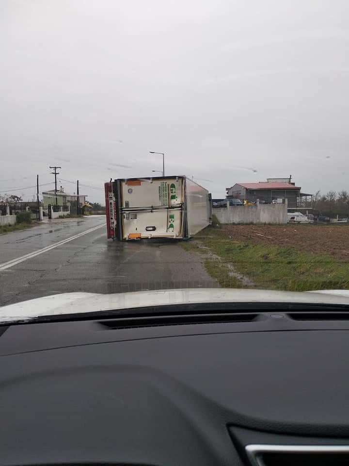 Ξάνθη φορτηγό άνεμοι